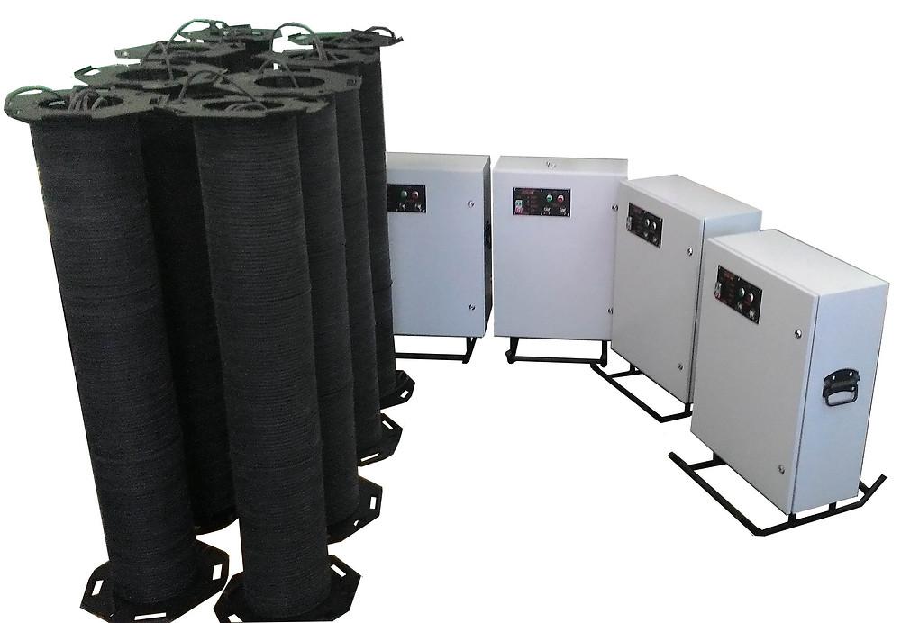 Размагничивающая установка для нефтяных труб
