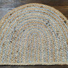 Eclipse Jute and Silver Thread Placemat