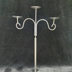 Silver 3 arm Candelabra
