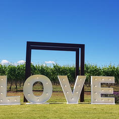 Light Up Letters - LOVE 1.2m high