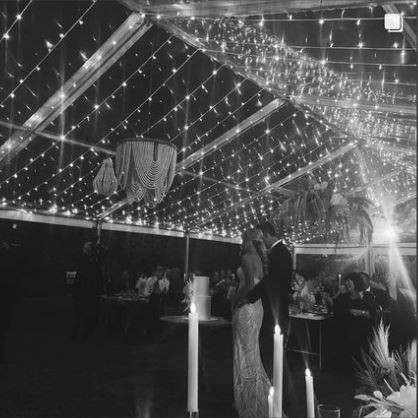 Fairy lights in marquee.JPG