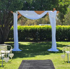 Fabric Draped Timber Arbour