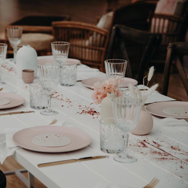 White Trestle Table