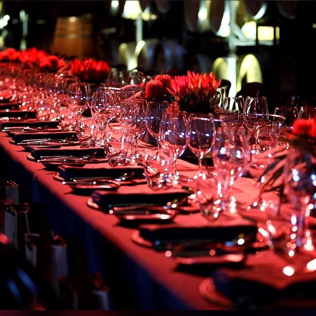 Qantas Lunch Table Setting