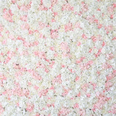 Pink White Flower Wall