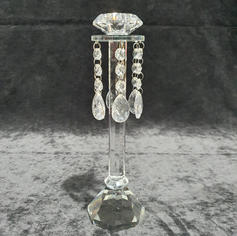 Crystal Candle Stick with Droplets