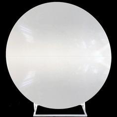 White Gloss Circular Backdrop