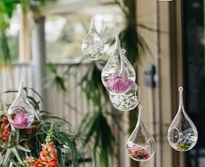 Glass Hanging Droplets