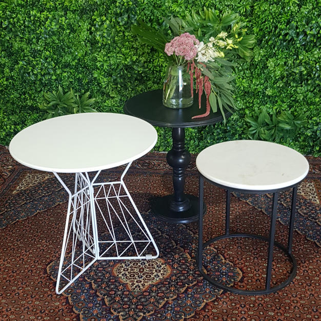 White Arrow Occasional Table