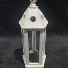 White Timber Lantern