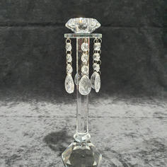 Crystal candles stick with droplets