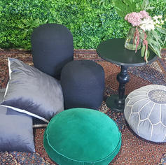 Ottomans and large cushions