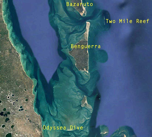bazaruto archipelago mozambique dive site two mile reef