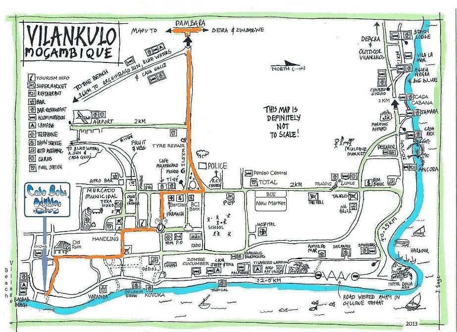 Map Vilanculos