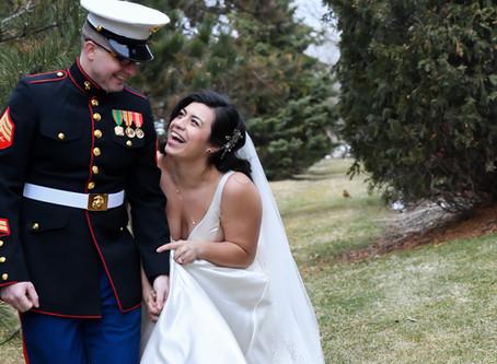 A Winter Wedding of Brandon & Marisa at Glacier Hills County Park.