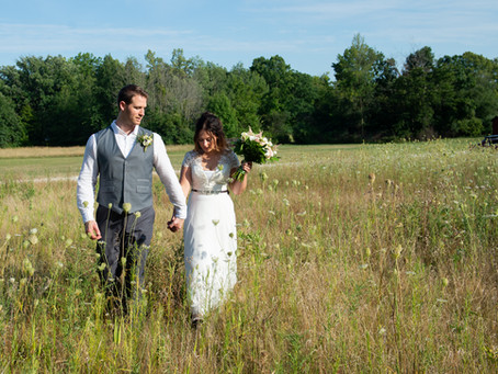 An Outdoor Ceremony, Camp POW WOW, Menomonee Falls Wedding.