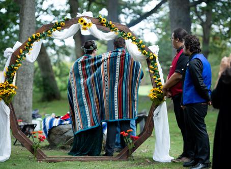A Native American Ojibwe Tribe Wedding Ceremony In Muskego WI