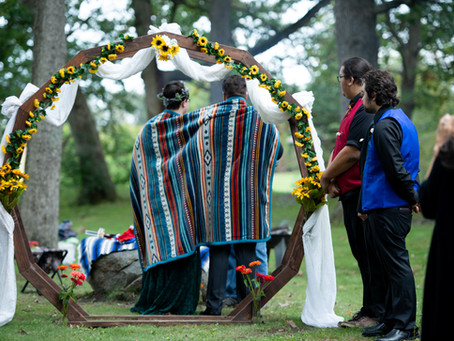 A Native American Ojibwe Tribe Wedding Ceremony In Muskego WI