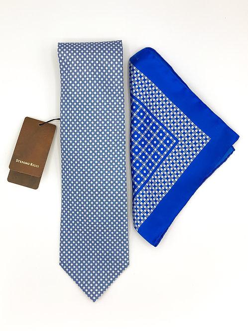 Stefano Ricci Tie Set - Blue