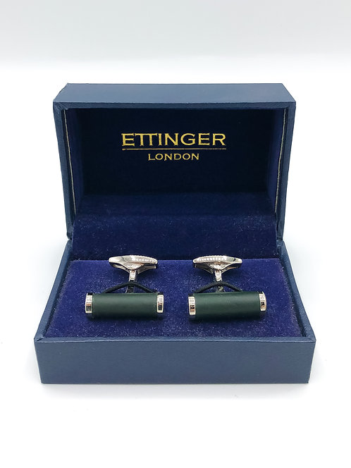 "Ettinger ""Bar"" Cufflinks - Green/Silver"