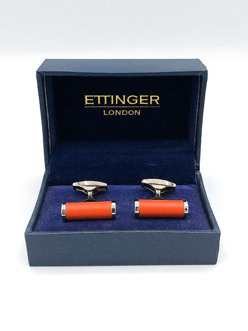 "Ettinger ""Bar"" Cufflinks - Orange/Silver"