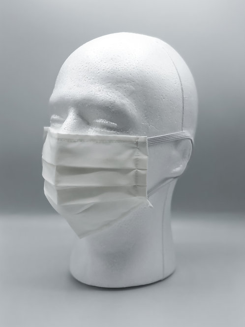 White Cotton Face Mask