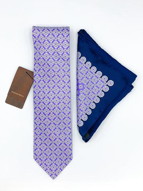 Stefano Ricci Tie Set -Lavender