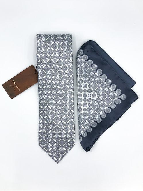 Stefano Ricci Tie Set - Pearl Grey
