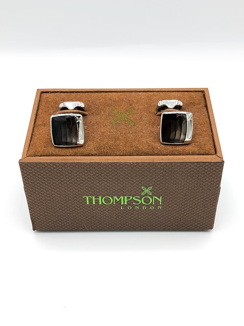 "Thompson ""Steps"" Cufflinks - Black"