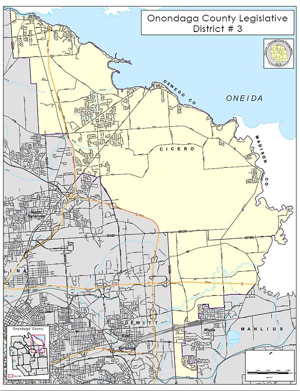 District 3 Onondaga County Legislature Map