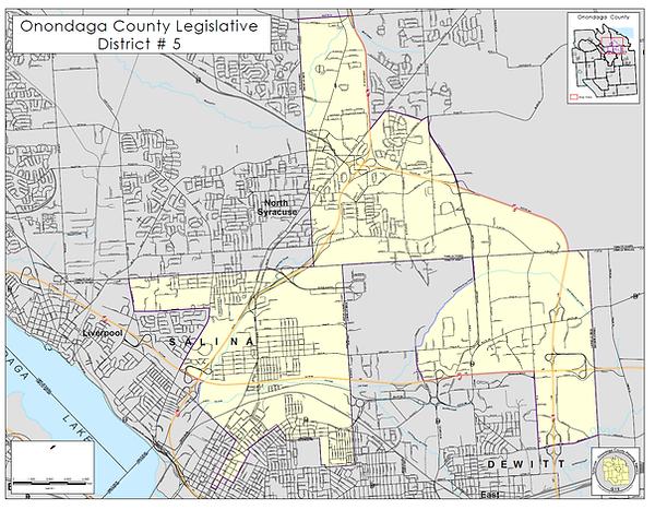District 5 Map Onondaga County Legislature