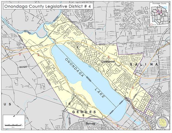District 4 Map Onondaga County Legislature Map