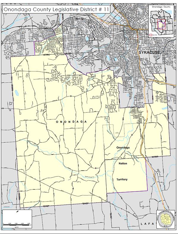 District 11 Map Onondaga County Legislature