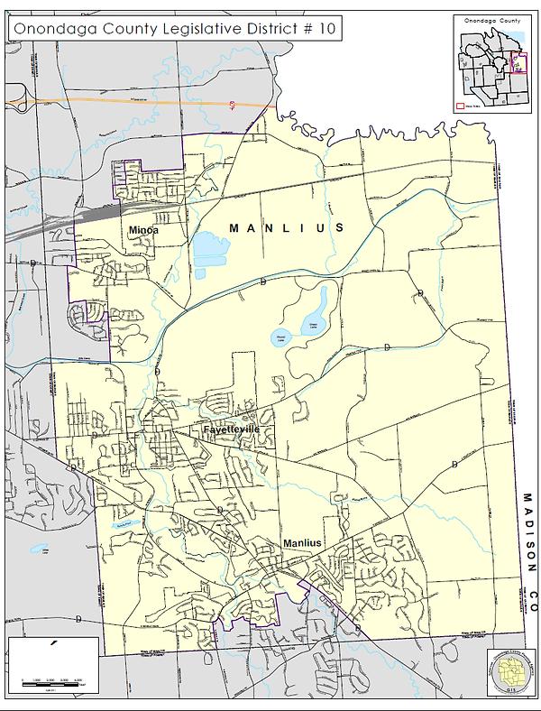 District 10 Map Onondaga County Legislature