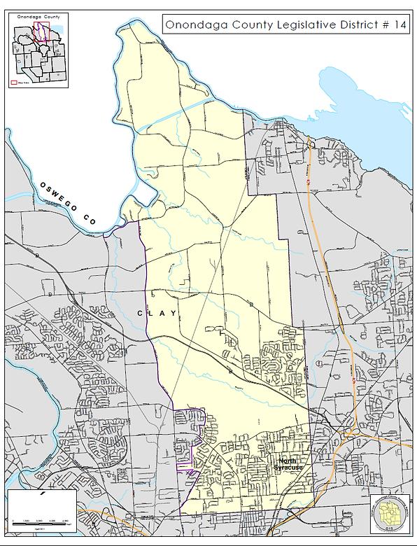 District 14 Map Onondaga County Legislature