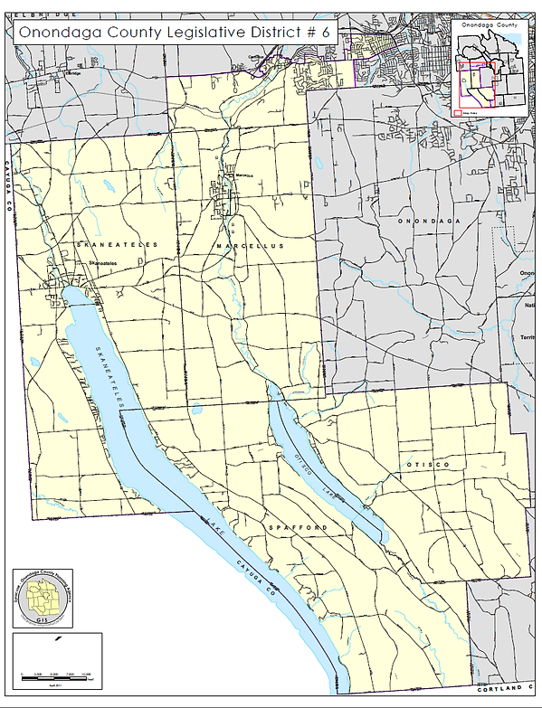District 6 Map Onondaga County Legislature