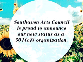 SOUTHAVEN ARTS COUNCIL NPO STATUS APPROVED