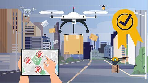 GPS 기반 드론 택배 기능