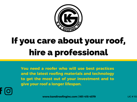 If you care about your roof, hire a professional