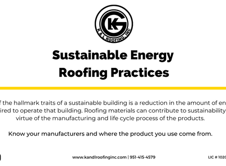 Sustainable Energy Roofing Practices