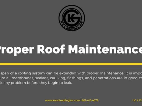 Proper Roof Maintenance