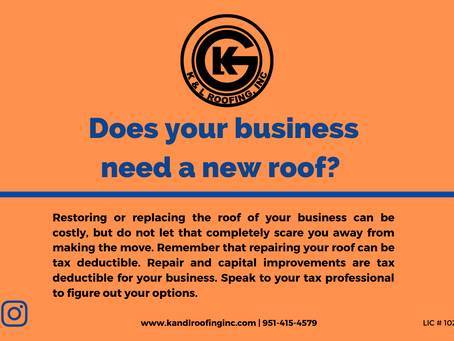 Does your business need a new roof?