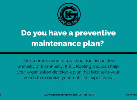 Do you have a preventive maintenance program?