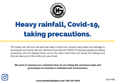 Heavy rainfall, Covid-19, & taking precautions.