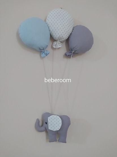 Κρεμαστό Βanner Τοίχου Ελεφαντάκι Με Μπαλόνια