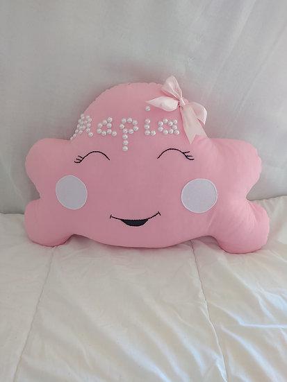 Διακοσμητικό Μαξιλάρι Ροζ Έντονο <<συννεφάκι με μαγουλάκια >>