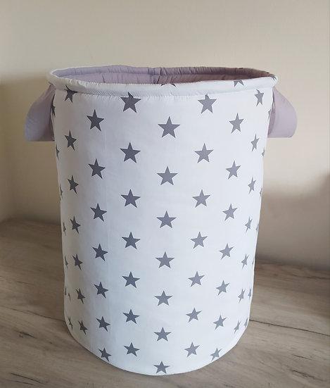 Πάνινο Καλάθι Πολλαπλών Χρήσεων Big Grey Stars