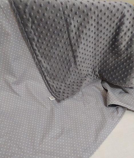 Κουβερτούλα  2πλής Όψης  Βελουτέ minky Grey Donello