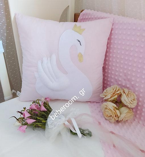 Διακοσμητικό Μαξιλάρι << white swan >>