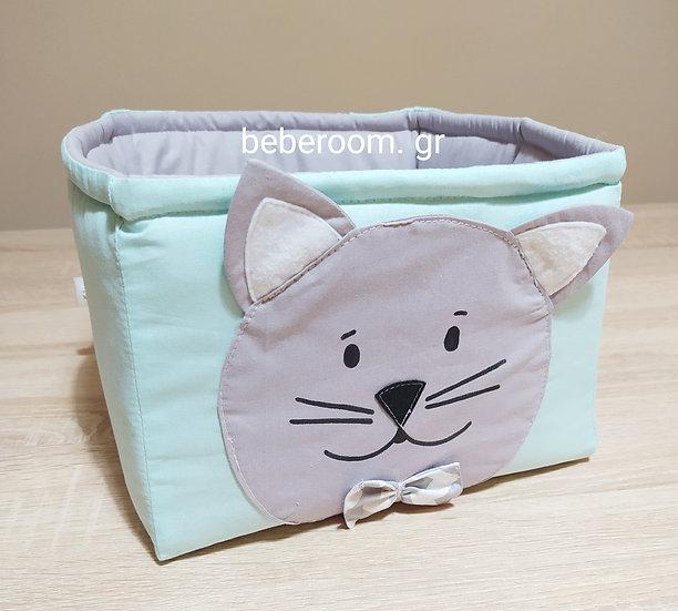 Πάνινο Καλαθάκι  Καλλυντικών Μπάνιου  Little Cat
